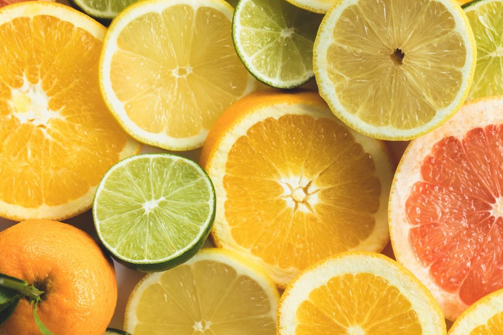 Citrus fruit displaying the important nutrient for women, Vitamin B9. on myPharmacy's website